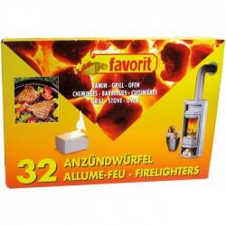 Allume feu barbecue et cheminée - Lot de 32- FAVORIT - Allume-feux - BR-203439