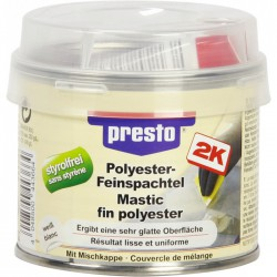 Mastic polyester fin - 1 Kg - Blanc - PRESTO - Autres Mastics - BR-505166