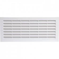 Grille d'aération horizontale avec moustiquaire - 338 x 132 mm - Blanc - GIRPI - Grille de ventilation - SI-510120