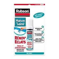 Rénov'Eclats - Répare petits éclats - Séchage rapide - 10 ml - RUBSON - Mastic sanitaire - DE-380584