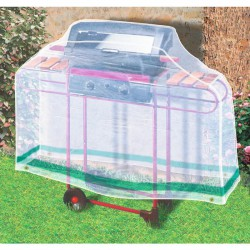 Housse de protection rectangulaire pour barbecue - 1.6 M - CAP VERT - Protection mobilier jardin - BR-016220