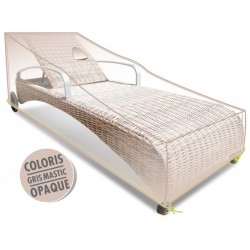 Housse de protection - Bain de soleil - Gris mastic - MOREL - Protection mobilier jardin - BR-960343