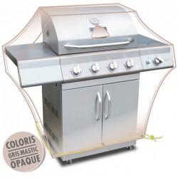 Housse de protection - Barbecue - Gris mastic - MOREL - Protection mobilier jardin - BR-960350