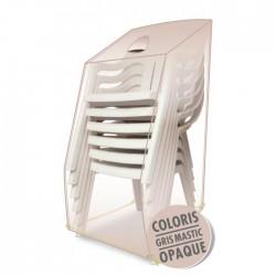 Housse de protection - Chaises empilable - Gris mastic - MOREL - Protection mobilier jardin - BR-960342