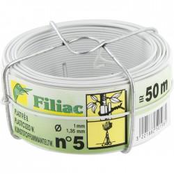 Bobinots fil attache - Acier galvanisé plastifié - Blanc - 50 M - FILIAC - Fils d'attache grillage - BR-268475