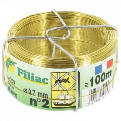 Bobinots fil attache - Laiton - 100 M - N°2 - FILIAC - Fils d'attache grillage - BR-154776