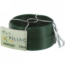 Bobinot de lien Ligaplastpour grillage - Vert - 50 M x 2.5 mm - FILIAC - Fils d'attache grillage - BR-154628