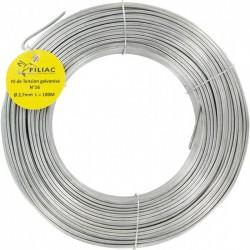 Fil de tension pour grillage - Acier galvanisé - N°16 - 100 M x 2.7 mm - FILIAC - Fils d'attache grillage - BR-739767