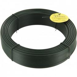 Fil de tension pour grillage - Acier galvanisé plastifié - Vert - 100 M x 2.4 mm - FILIAC - Fils d'attache grillage - BR-419644