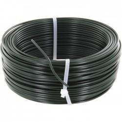 Fil de tension pour grillage - Acier galvanisé plastifié - Vert - 100 M x 2.7 mm - FILIAC - Fils d'attache grillage - BR-311562