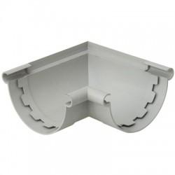Angle gouttière demi-ronde à coller mixte - ⌀25 mm - Gris - GIRPI - Raccords PVC pour gouttière - BR-189568