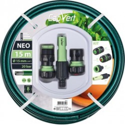 Batterie tuyau tricoté - 3 couches - Tricot simple- 15 M x 15 mm - CAP VERT - Tuyaux d'arrosage - 508624