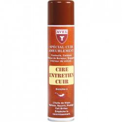 Cire entretien cuir d'ameublement - 400 ml - AVEL - Entretien du cuir - BR-701093