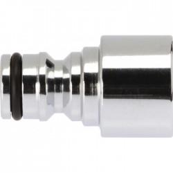 Nez de robinet - Brise jet - Laiton nickelé - Femelle - CAP VERT - Nez de robinet - BR-589108
