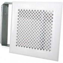 Grille d'aération cheminée - Blanc - 170 x 170 mm - DMO - Grille de cheminée - BR-730898