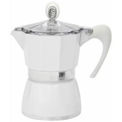 Cafetière italienne - 3 Tasses - Bella - Blanc - GAT - Pour le Thé, Café, petit déjeûner - DE-641423