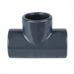 Té 90° égal à coller - 63 mm - CAP VERT - Raccords / coudes / manchons - BR-440523
