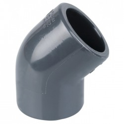 Coude 45° à coller - 63 mm - CAP VERT - Raccords / coudes / manchons - BR-440190
