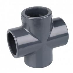 Croix PVC à coller - 50 mm - CAP VERT - Raccords / coudes / manchons - BR-440330