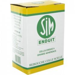 Enduit cellulosique en poudre -1 Kg - SIM - Enduit de rebouchage - BR-134015