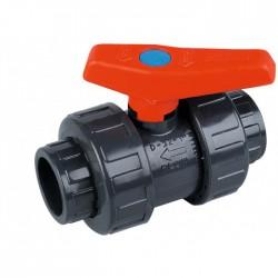 Vanne PVC à coller - 50 mm - CAP VERT - Vannes et robinets - BR-440490