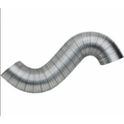 Gaine flexible et extensible de 0.45 à 1.5 M - Aluminium - 125 mm - STRULIK - Gaines et conduits - BR-624785