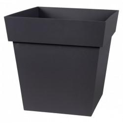 Pot à fleur carré - Gamme Toscane - 22 L - Gris anthracite- EDA - Pots carrés - BR-315555