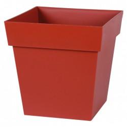 Pot à fleur carré - Gamme Toscane - 22 L - Rubis - EDA - Pots carrés - BR-315557