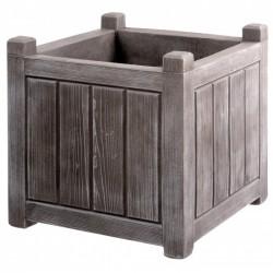 Bac carré avec réserve d'eau - CHARME - Gris cérusé - 67 L - 50 cm - EDA - Pots carrés - BR-101509