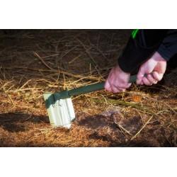 Pelle / Pioche pliante - Acier - Vert - CAO - Accessoires pour tentes - BR-154117