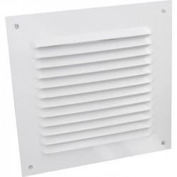 Grille de ventilation avec moustiquaire - métal - Carré - 190 mm - Blanc -DMO - Grille de ventilation - BR-421533