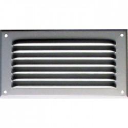 Grille de ventilation avec moustiquaire - métal - Rectangle - 140 x 50 mm - Aluminium - DMO - Grille de ventilation - BR-421535