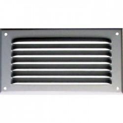 Grille de ventilation avec moustiquaire - métal - Rectangle - 190 x 100 mm - Aluminium - DMO - Grille de ventilation - BR-421542
