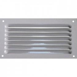 Grille de ventilation avec moustiquaire - métal - Rectangle - 190 x 100 mm - Blanc - DMO - Grille de ventilation - BR-421543