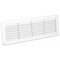 Grille de ventilation encastrable - A visser - Blanc - 370 x 123 mm - DMO - Grille de ventilation - BR-421563