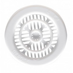 Grille de ventilation à encastrer pour contre cloison - Plastique - Ronde - 25 mm- DMO - Grille de ventilation - BR-192182