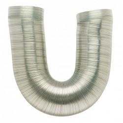 Gaine flexible et extensible de 0.45 à 1.5 M - Aluminium - 90 mm - DMO - Gaines et conduits - BR-195502