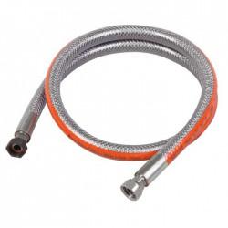 Tuyau flexible inox pour butane ou propane - 2 M - EUROGAZ - Tubes et flexibles Gaz - BR-009220