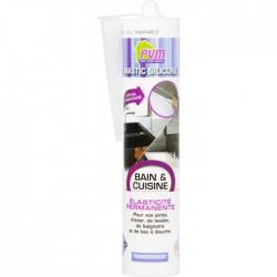 Mastic Bain & Cuisine - Translucide - 310 ml - PVM - Mastic sanitaire - BR-822555