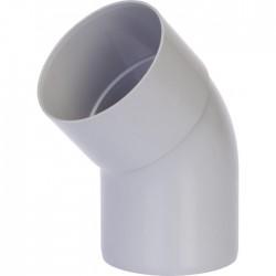 Coude 45° Mâle / Femelle - ⌀80 mm - Gris - GIRPI - Raccords PVC pour gouttière - BR-189533