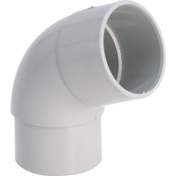 Coude 87°30 Mâle / Femelle - ⌀80 mm - Gris - GIRPI - Raccords PVC pour gouttière - BR-189174