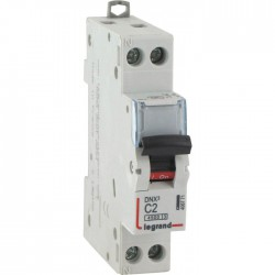 Disjoncteur DNX unipolaire + neutre - Type C - 2 A - LEGRAND - Disjoncteurs - BR-134570