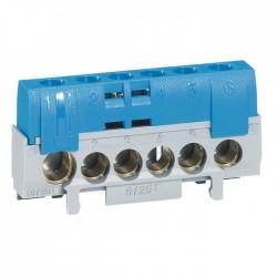 Bornier de répartition 6 trous - Neutre - Bleu - LEGRAND - Raccordement - BR-080560
