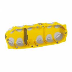 Boîte à encastrer Ecobatibox pour plaque de plâtre - 3 postes - LEGRAND - Boites d'encastrement et dérivation - BR-138133