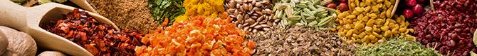 Épicerie sucrée et salée : poivre, sirop, infusion