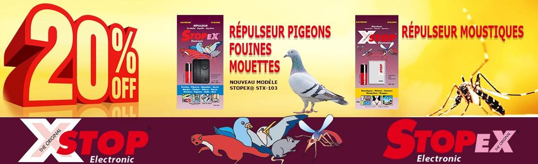 Répulseur moustique et répulseur pigeons et mouettes- électronique et écologique - Promotion