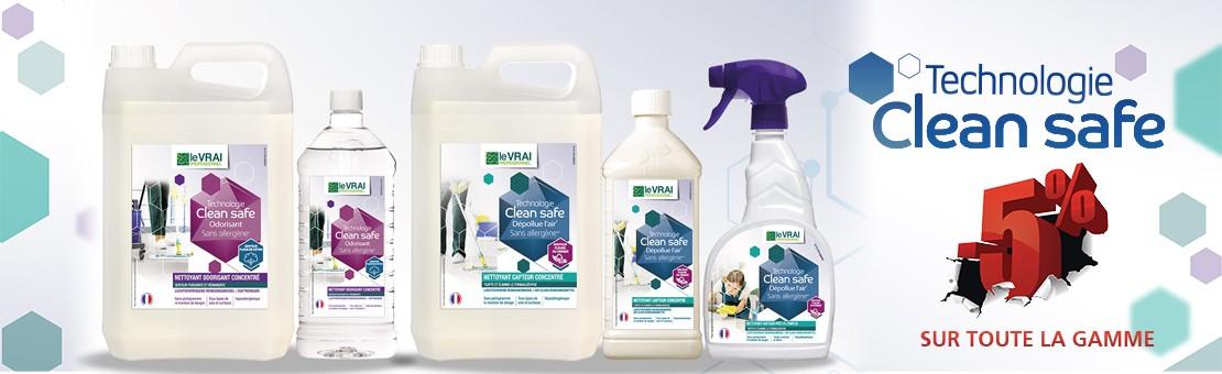 Clean Safe - Nettoyant surfaces, sols et air - Le Vrai Professionnel